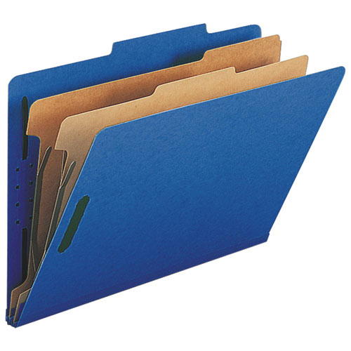 "Nature Saver 8.5"" x 14"" Eco-Friendly Classification Folders - 10 Pack - Dark Blue"