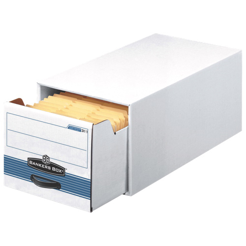 "Fellowes 11.5"" x 14.0"" Bankers Box Steel Plus Storage Drawer - 6 Pack - White (FEL00311)"