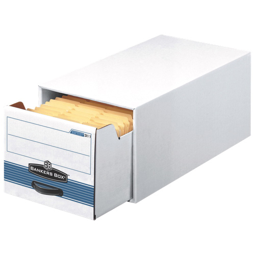 "Fellowes 11.5"" x 14.0"" Bankers Box Steel Plus Storage Drawer - 6 Pack - White (FEL00312)"