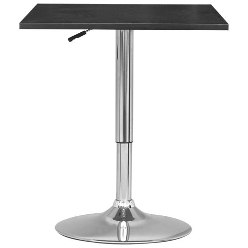 Table de bar carr e de style contemporain noir tables - Table bar carree ...