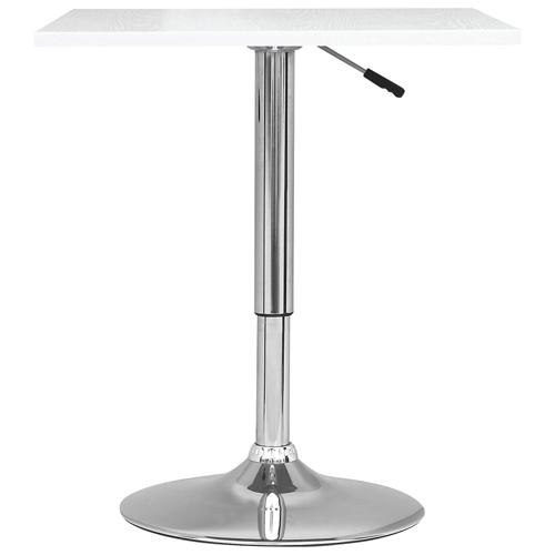 Table de bar carrée réglable - Blanc : Tables de bar - Best Buy Canada