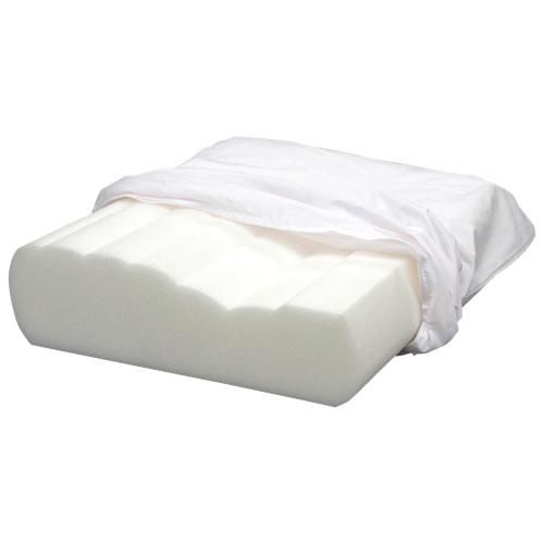 Bodyform Orthopedic Curved Wave Foam Pillow - White