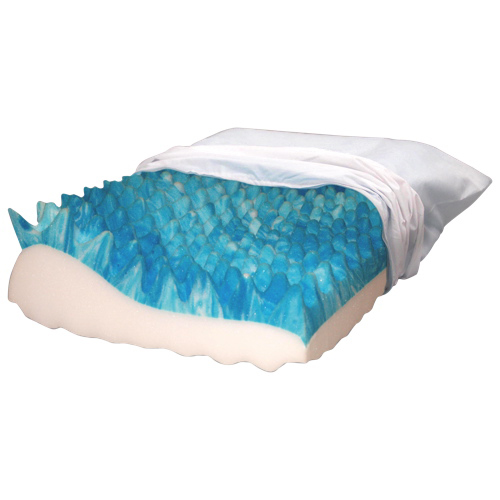 BodyForm Orthopedic Nightwave Gel Infused Foam Pillow - White