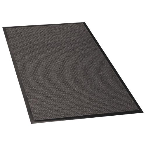 "Genuine Joe 60"" x 36"" Waterguard Floor Mat (GJO59473) - Charcoal Grey"