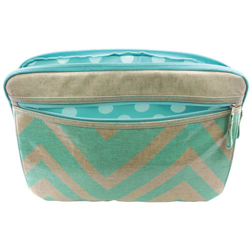 "Studio C Chevron 16"" Laptop Sleeve - Blue"