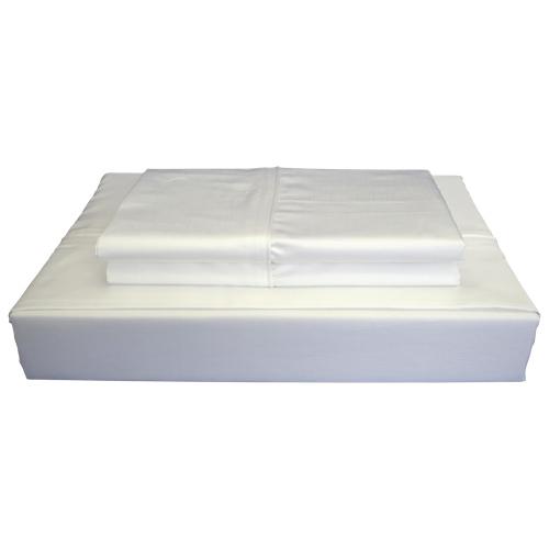 ensemble de draps en coton gyptien contexture 620 duncan de maholi lit 1 place blanc. Black Bedroom Furniture Sets. Home Design Ideas