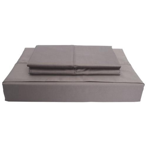 ensemble de draps en coton gyptien contexture 620 duncan de maholi grand lit gris. Black Bedroom Furniture Sets. Home Design Ideas