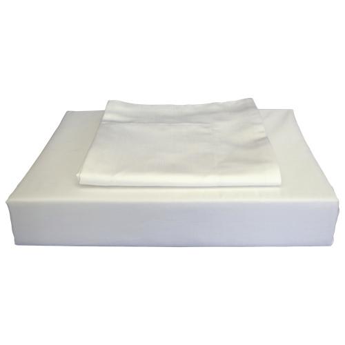 Ens. housse de couette en coton égyptien contexture 620 Duncan de Maholi - Très grand lit - Blanc