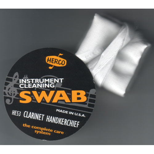 Herco Clarinet Handkerchief Swab (HE53) - White