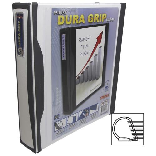 Cartable à anneaux en D de 1,5 po Dura Grip de Storex (32583B06C) - Blanc