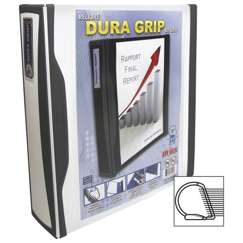 "Storex Dura Grip 2"" D-Ring Binder (33583B06C) - White"
