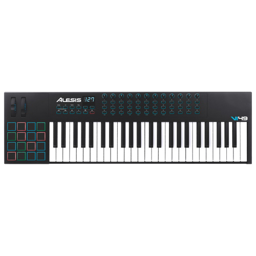 Clavier contrôleur 49 touches USB/MIDI Advanced d'Alesis (VI49) - Noir