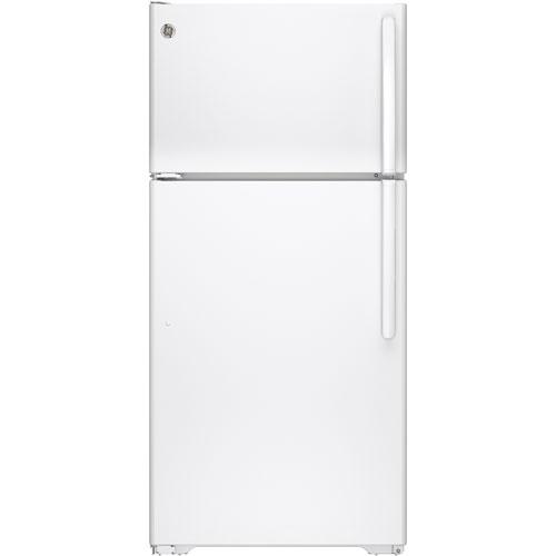 "GE 28"" 14.6 Cu. Ft. Top Freezer Refrigerator (GTE15CTHLWW) - White"