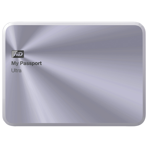 "WD My Passport Ultra Metal Edition 1TB 2.5"" USB External Hard Drive (WDBTYH0010BSL-NESN) - Silver"