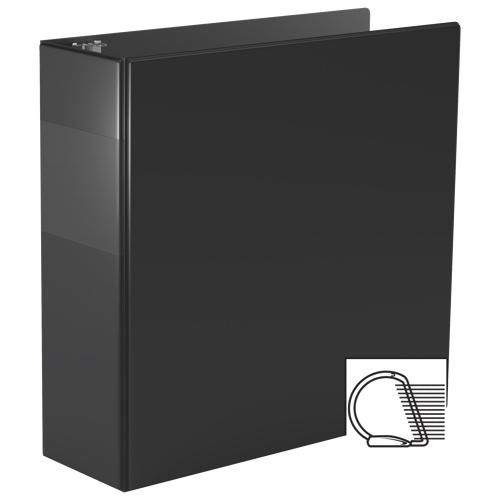 Cartable 3 po pour feuilles de calcul avec fermeture sécurisée à anneaux en D de Davis Group - Noir