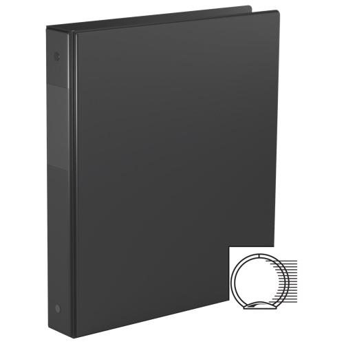 Cartable 1,5 po Essential avec fermeture sécurisée à anneaux en D de Davis Group - Noir