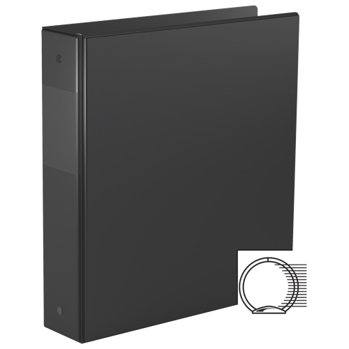 "Davis Group 2"" Essential Binder With a Secure D-Ring Closure - Black"