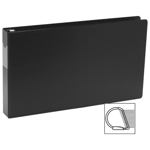 """Davis Group 1"""" Heavy Duty Spreadsheet Binder With a Secure D-Ring Closure - Black"""