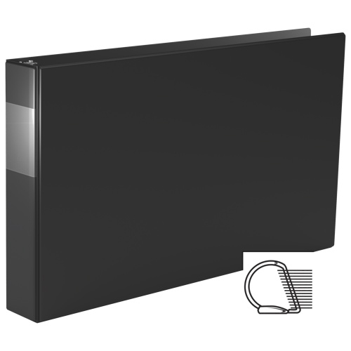"""Davis Group 1.5"""" Heavy Duty Spreadsheet Binder With a Secure D-Ring Closure - Black"""