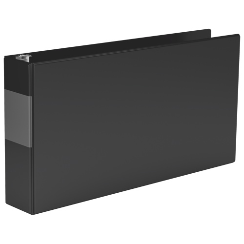 "Davis Group 2"" Heavy Duty Spreadsheet Binder With a Secure D-Ring Closure - Black (95131L)"