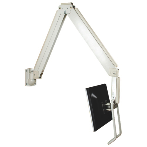 "TygerClaw 14"" - 17"" Tilting Monitor Wall Hook Mount - White"