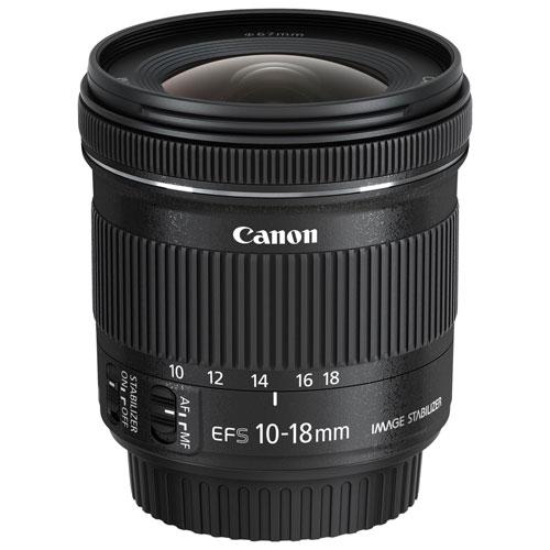 Canon EF-S 10-18mm f/4.5-5.6 IS STM Lens (9519B002) - Black