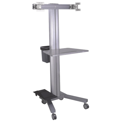 "TygerClaw Mobile PC Stand for 2 Monitors Up To 17"" (LVW8606) - Black"