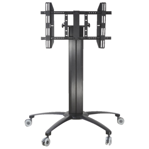 "TygerClaw Mobile TV Stand with 32"" - 52"" Tilting TV Mount - Black"