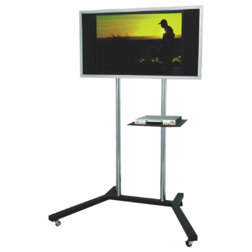 Tygerclaw Mobile Tv Stand With 22 60 Fixed Tv Mount Black