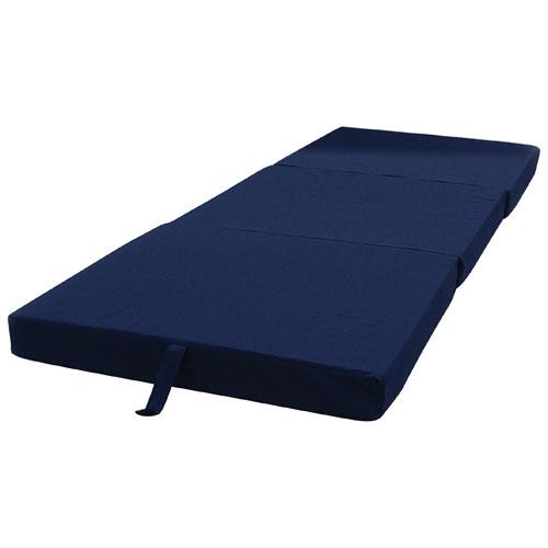 lit pliant escamotable traditionnel pour invit bleu lits et cadres de lit best buy canada. Black Bedroom Furniture Sets. Home Design Ideas