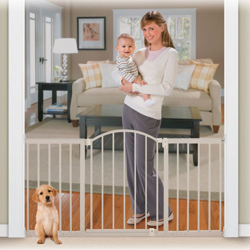 Summer Infant Hardware Mounted 6 Ft Metal Expansion Wide Walk Thru