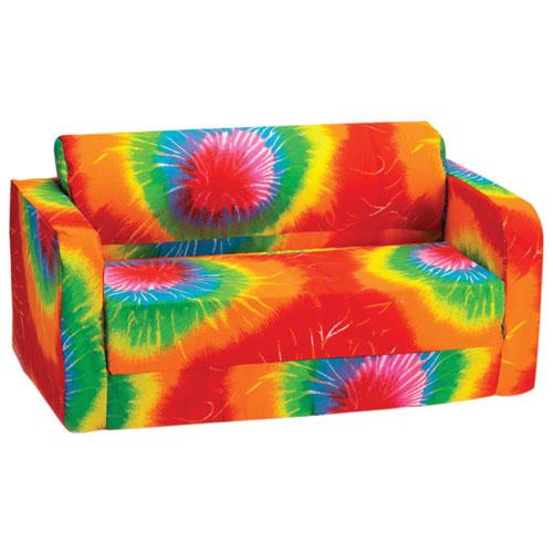 Comfy Kids - Kids Flip Sofa - Multi-colour Tie-Dye