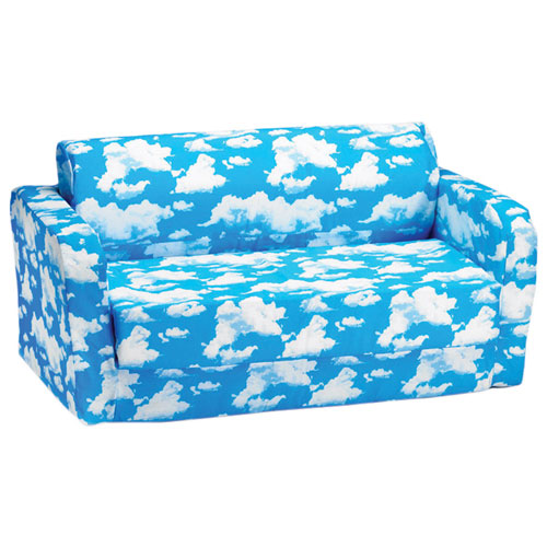 Comfy Kids   Kids Flip Sofa   Blue/ White Clouds   Online Only