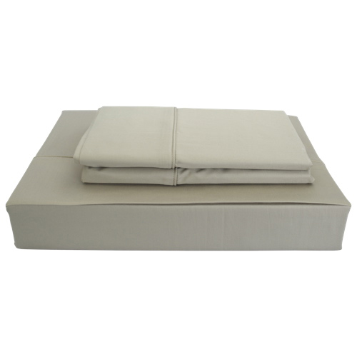 Maholi Solid Collection 250 Thread Count Egyptian Cotton Sheet Set - Single/Twin - Taupe