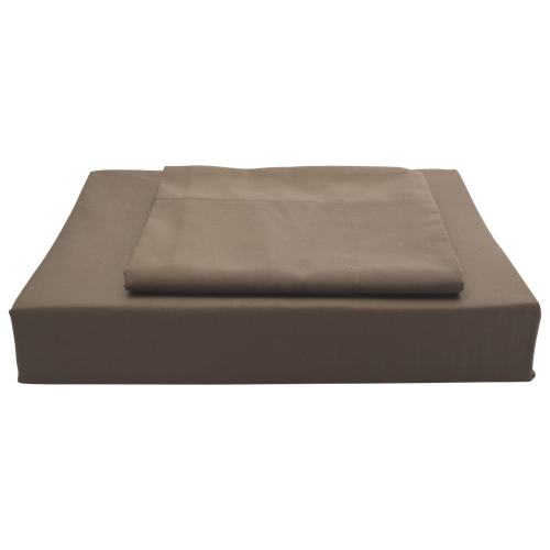Maholi Solid Collection 250 Thread Count Egyptian Cotton Sheet Set - Single/Twin - Chocolate