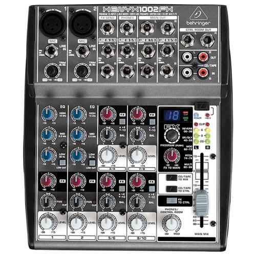 Console de mixage de studio/en direct à 10 canaux Xenyx de Behringer (1002FX)