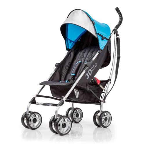 Summer Infant 3D Lightweight Stroller - Black/Blue