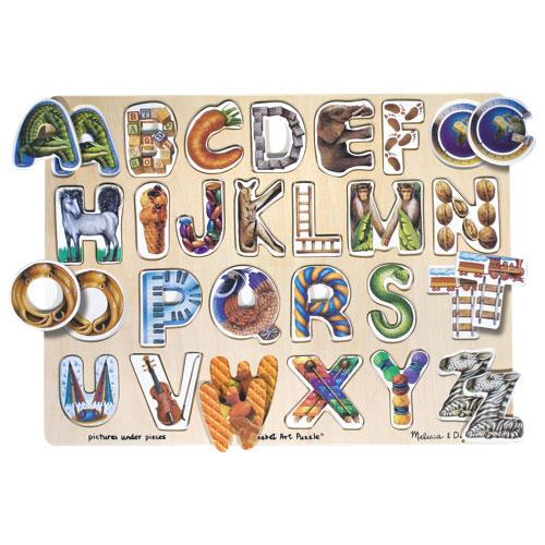 Alphabet Artistique casse-tête artistique alphabet de melissa & doug - 26 pièces : casse