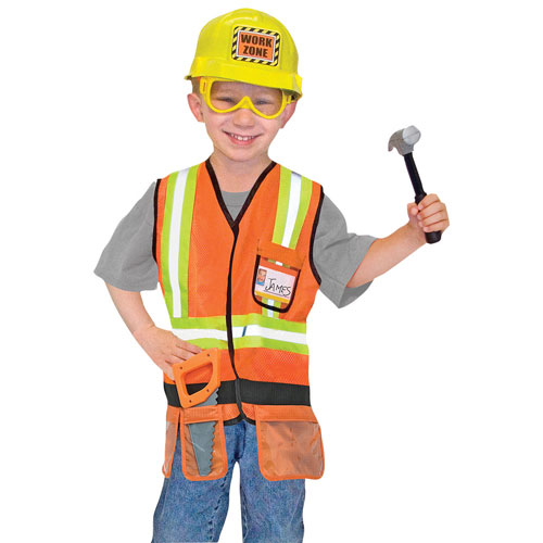 melissa doug construction worker costume set 3 to 6 years baby