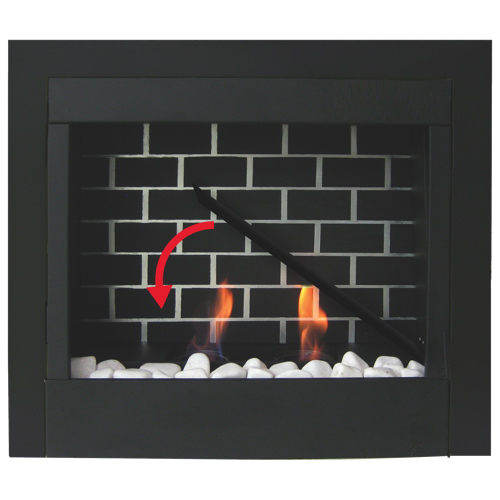 Paramount 6000BTU Gel Fuel Fireplace (GF-23-BLK) - Black