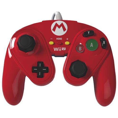 Manette avec fil Fight Pad de PDP pour Wii U - Mario