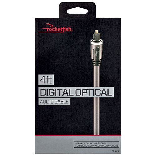 Rocketfish 1.2m (4 ft.) Digital Optical Audio Cable (RF-G1218-C)