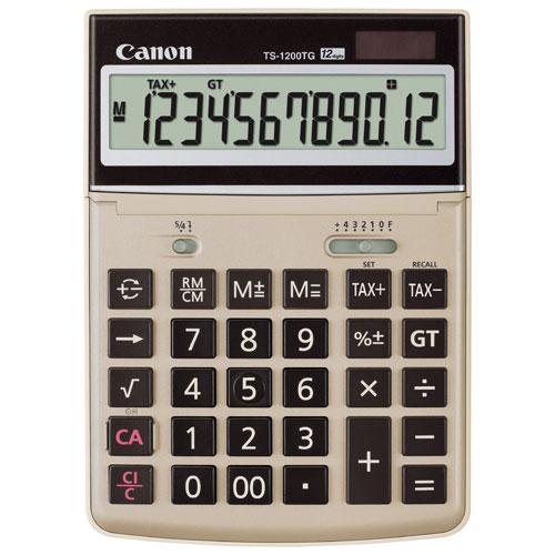 Calculatrice TS-1200TG avec écran à 12 caractères de Canon - Brun