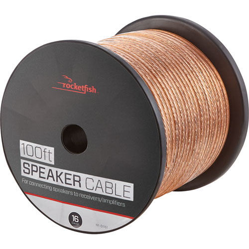 Rocketfish 30.4m (100 ft.) 16AWG Speaker Cable (RF-G1151-C)