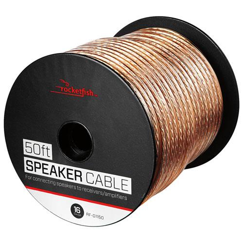Câble pour haut-parleur 16 AWG de 15,24 m (50 pi) de Rocketfish (RF-G1150-C)