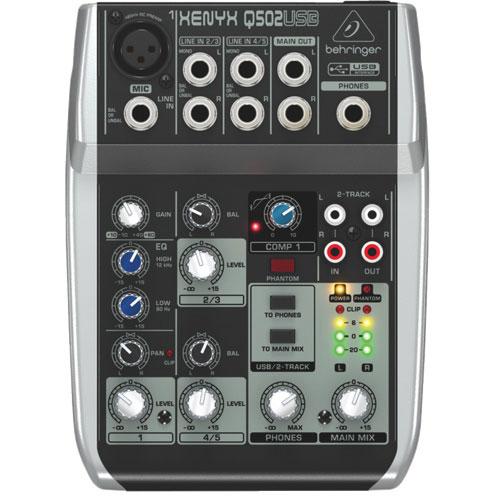 Console de mixage 5 entrées 2 bus Xenyx Q502USB Premium de Behringer