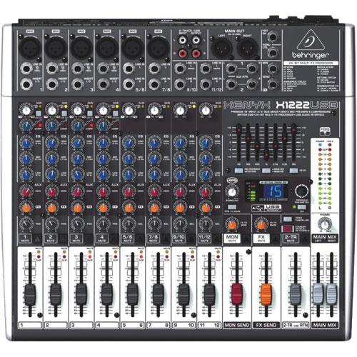 behringer xenyx x1222usb 12 input audio mixer dj mixers \u0026 cd