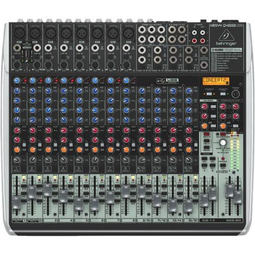 Behringer Xenyx QX2222USB Audio Mixer