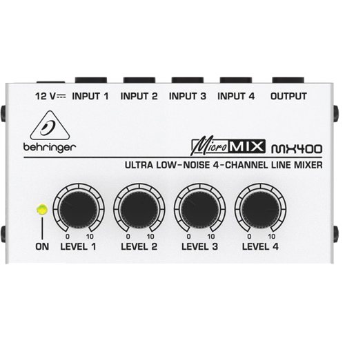 Behringer MicroMix Ultra Low-Noise 4-Channel Line Mixer (MX-400)