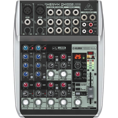 Behringer Xenyx 10-Channel Studio/Live Mixer (QX1002USB)